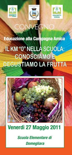 Il km 0 nella scuola: conosciamo e degustiamo la frutta (Convegno Coldiretti Verona)