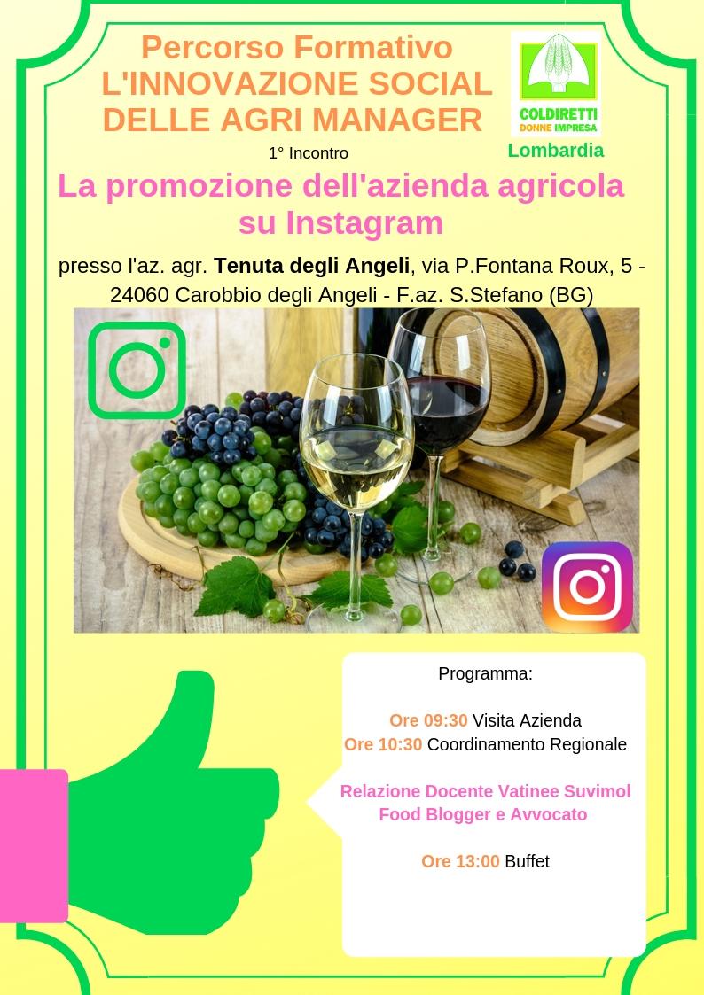 La promozione dell'azienda agricola su Instagram