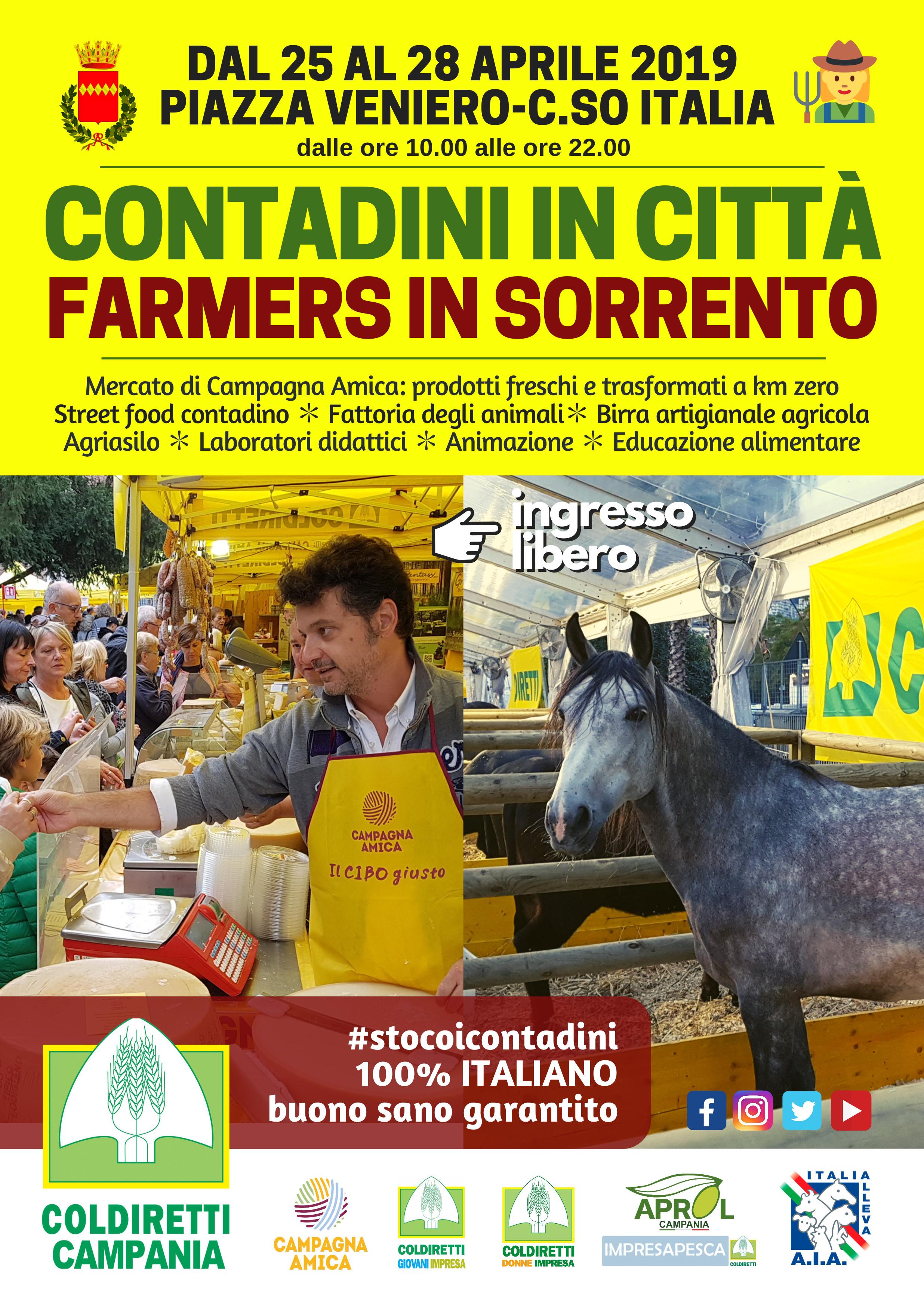 Contadini in città Farmers in Sorrento