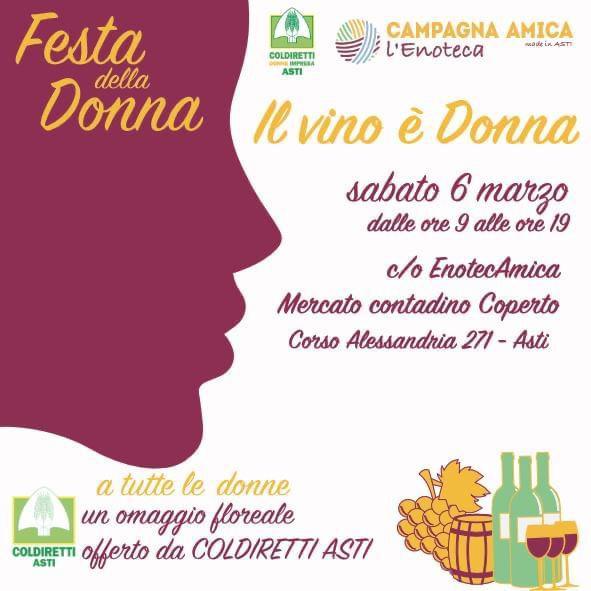 Festa della Donna Il vino è donna 6 marzo