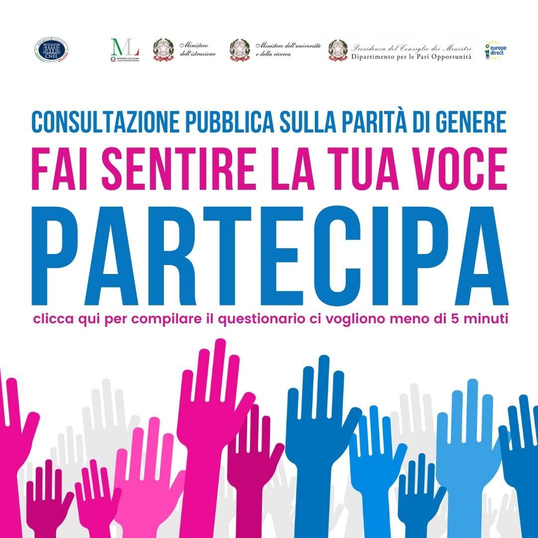 Consultazione pubblica sulla parità di genere