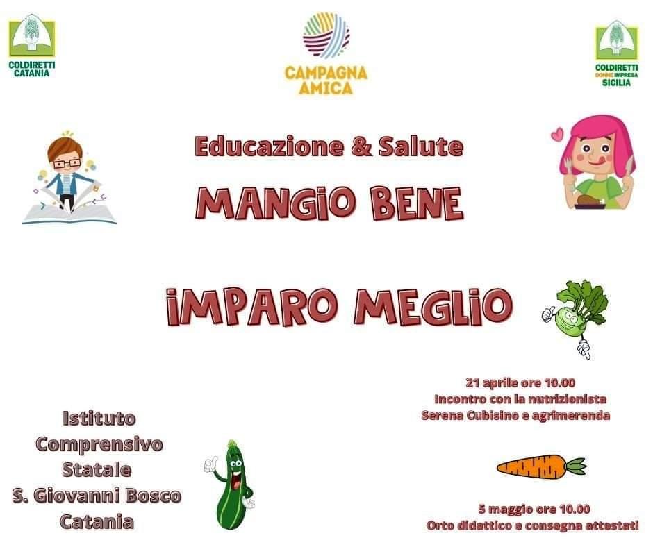 Educazione e salute: mangio  bene imparo meglio