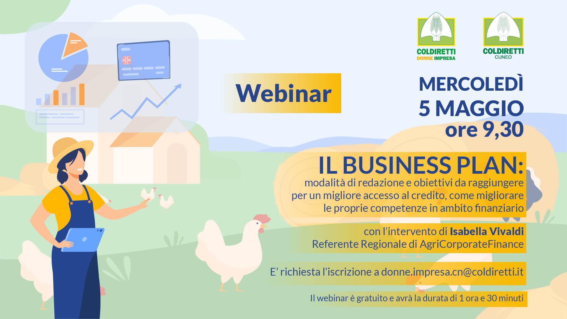 Webinar business plan 5 maggio Cuneo