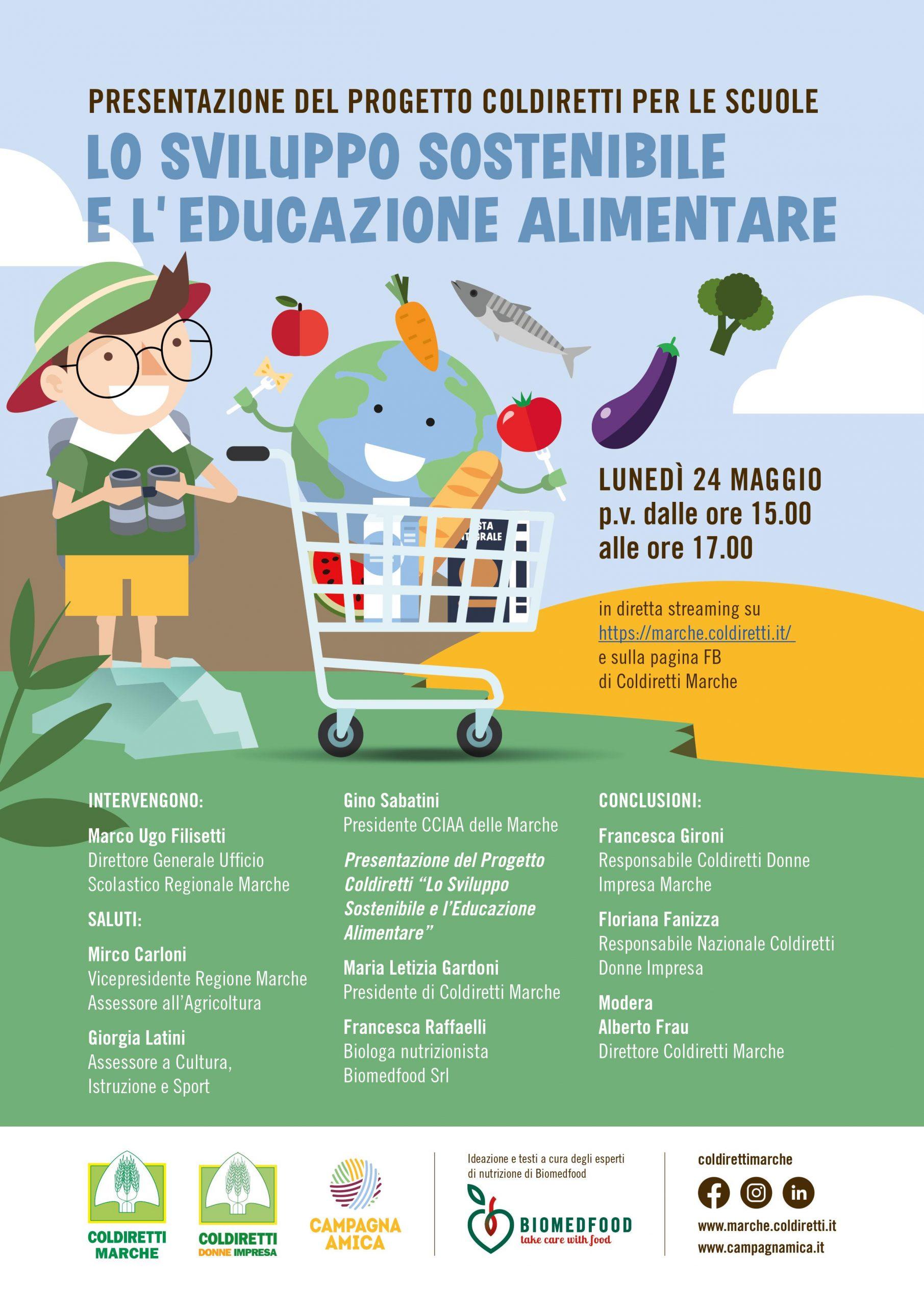 L'educazione Alimentare e lo Sviluppo sostenibile Webinar Lunedi 24 maggio