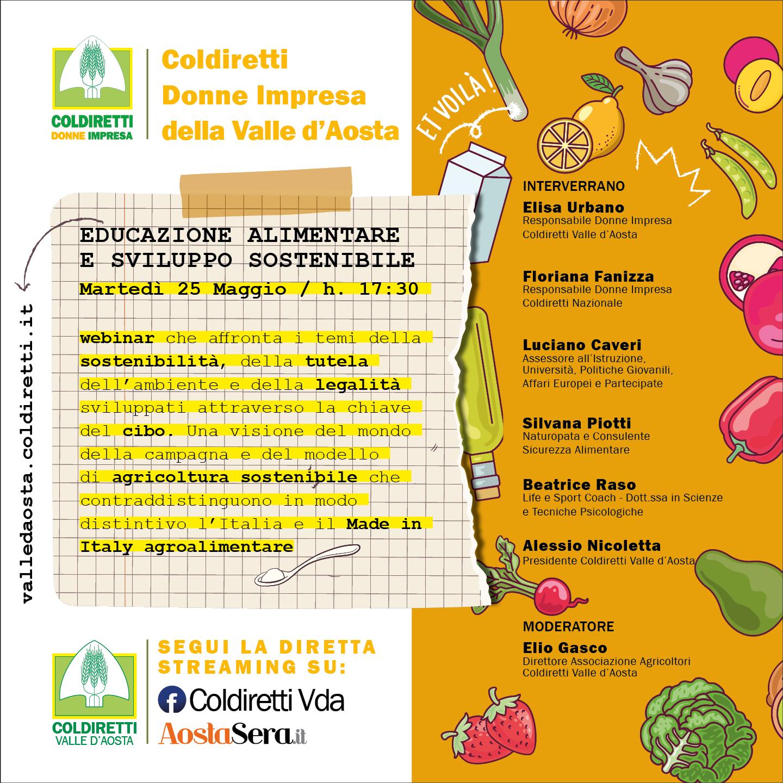 Coldiretti Donne Impresa Valle D'Aosta Educazione Alimentare e Sviluppo Sostenibile