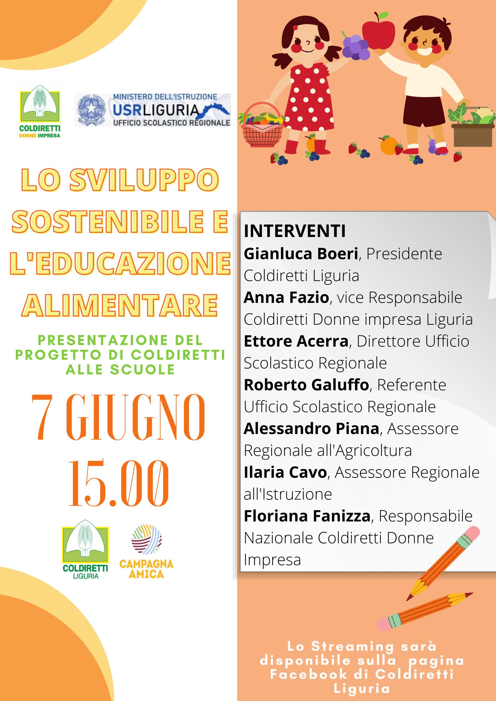 Lo Sviluppo sostenibile e l'educazione alimentare